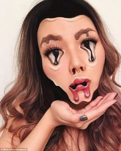Willst du Halloween Make-up, das wow? Dann musst du dir unsere 25 atemberaubenden Halloween Make-up Makeup Fx, Makeup Brushes, Movie Makeup, Glow Makeup, Scary Makeup, Helloween Make Up, Make Up Looks, Special Effects Makeup, Halloween Makeup Looks