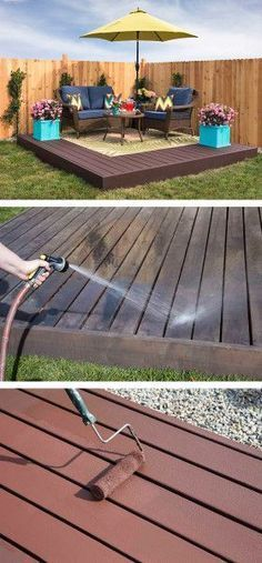 This step-by-step tutorial will show you how to build a beautiful and functional floating deck, or freestanding deck, including tools and materials lists. Backyard diy patio How to Build a Floating Deck - The Home Depot Building A Floating Deck, Building A Deck, Building Plans, Diy Deck, Diy Patio, Pallet Patio Decks, Patio Steps, Deck To Patio Ideas, Easy Patio Ideas
