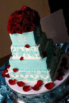 tiffany blue and red wedding pictures | were 'Tiffany Blue' and red. Im so happy we didn't incorporate the red …