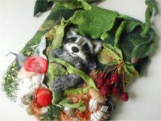 """Handtasche - Tasche gefilzt """"Wald zur Hand II"""" - ein Designerstück von SweetDecor bei DaWanda"""