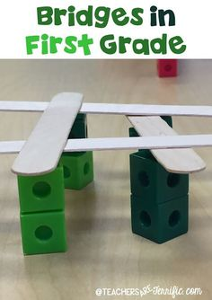First Grade STEM: Each child had ten counting cubes and four craft sticks. All I…