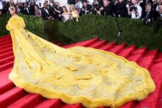 I don't care what anyone says about this dress - Rihanna was the only one courteous enough to research a Chinese couturier herself and pay tribute to the culture by wearing this Guo Pei dress.