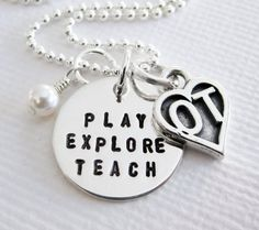 Occupational Therapy Necklace OT by PatriciaAnnJewelry on Etsy, $39.50. Oh my word!! This is going on my birthday list!!