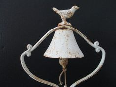 Cast Iron Bell Bird Table Top Wedding Decor by GirlPickers on Etsy