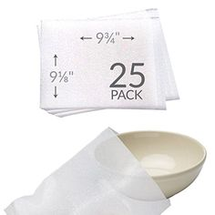 """UBOXES 9-1/8"""" x 9-3/4"""" Foam Wrap Bowl Pouches Protect Dishes and Fragile Items while Moving (25 Pack)  Foam Wrap Pouches for Bowls  protection for your precious china, wine glasses, photo frames or fragile items. Foam is non-abrasive, clean, and leaves no residue.  Qty: 25 Size: 9 1/8 x 9 3/4-inches  3/32"""" thick polyethylene foam.  High Quality - Satisfaction Guaranteed - Transit time is approximately 1-2 business days - UBOXES is #1 source for Moving Boxes & Supplies Online - Moving K..."""