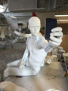 "GRENEKER MANNEQUINS FACTORY, Los Angeles,CA, ""Lucas gets a body"", (The Selfie Collection), pinned by Ton van der Veer"