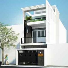 Thiết kế xây dựng nhà phố đẹp 2 tầng hiện đại năm 2015