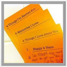 happy anniversary kit - Printable for years 2-5
