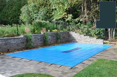 20 YR Solid Safety Cover w/Pump for 16' x 40' Rectangle Left Step Pool