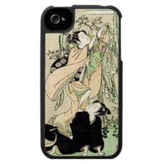 cool music Iphone 4 covers | Cool japanese vintage ukiyo-e scroll two geishas case for the iPhone 4 ...