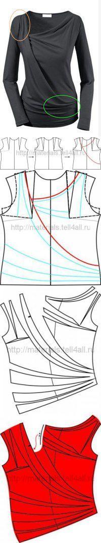 Модель из трикотажа с драпировкой   Шкатулка