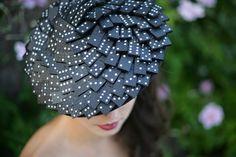 Domino Saucer Hat. http://www.theheadmistressboutique.com/ https://www.etsy.com/uk/shop/headmistressboutique?ref=si_shop