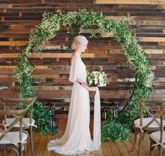 Circular arch - perfect wedding backdrop for the ceremony!