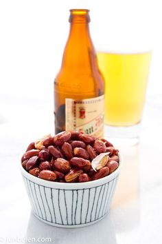 Pritong Mani---Fried Garlic Peanuts paired with beer #Philippines #Pilipinas #Pinoy