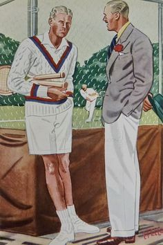 The history of the Tennis Sweater with Cable-Stitch & V-neck - Apparel Arts 1936. The rest at http://www.gentlemansgazette.com/tennis-sweater-cricket-cable-stitch/