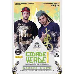 |- CIDADE VERDE SOUNDS 13/11 no Brasuca #reggaemusic #reggaevive #dub #bobmarley #cidadeverdesounds #paralelourbano #music #sonoridades #brasuca #bolachassonoras #musicaboa #seletas #discotecagem #realdjs #turntablism #djs #pow #tey #pesado paralelo urbano by paralelourbano http://ift.tt/1HNGVsC