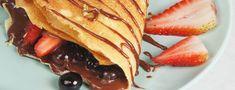 Crepe de chocolate relleno de frutos rojos   Recetas La Lechera Ethnic Recipes, Food, Cherries, Essen, Meals, Yemek, Eten