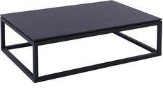 Cordoba Rectangular Coffee Table Modern Black Wenge Finish
