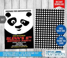 Kung Fu Panda Invitation Kung Fu Panda Birthday by TemplateMansion