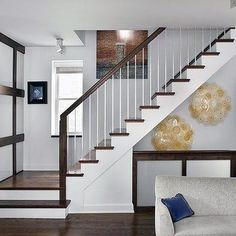 open basement stair railing basement staircase ideas amazing of open staircase i Basement Stairs Amazing Basement ideas Open railing stair Staircase Wooden Staircase Design, Metal Stair Railing, Stair Railing Design, Wood Staircase, Staircase Ideas, Metal Balusters, Stair Spindles, Banisters, White Banister