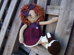 Pattern for  Raggedy Amee- lou Raggedy Lottie ragdoll doll knitted doll via Etsy
