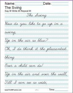 penmanship cursive practice sentence worksheet from jen 39 s shop on 1. Black Bedroom Furniture Sets. Home Design Ideas