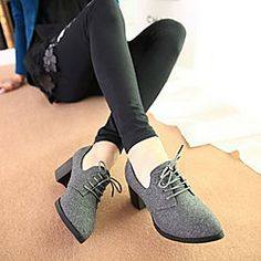 Women's Shoes Pointed Toe Chunky Heel Oxfords Shoes More Colors available | LightInTheBox
