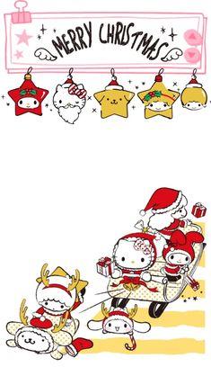 Hello Kitty Christmas Tree, Snoopy Christmas, Merry Christmas And Happy New Year, Xmas, Hello Kitty Art, Hello Kitty My Melody, Hello Kitty Items, My Melody Wallpaper, Sanrio Wallpaper