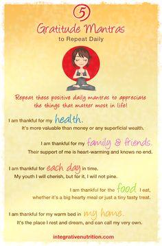 5 Gratitude Mantras to Repeat Daily