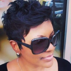 Short Black Hairstyle for Summer