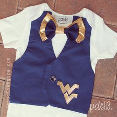 Baby Boy West Virginia Football Bodysuit with by pdstudiosstore, $30.00   - YES!!!!!!!!!!