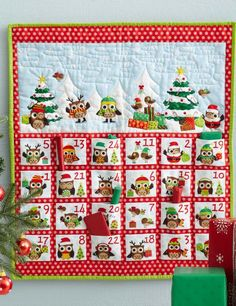 Make this 24-pocket advent calendar for the holidays! It takes longer to fill the pockets than it does to sew.