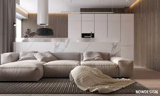 Ostrov Apartment on Behance Home Living Room, Living Area, Living Room Decor, Living Spaces, Minimalist Interior, Modern Interior, Interior Architecture, Home Room Design, Living Room Designs