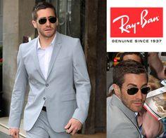 Jake Gyllenhaal & Ray-Ban Aviator  http://www.opticalh.com/8-sunglasses#/brand-ray_ban http://www.opticalh.com/es/8-gafas-de-sol#/marca-ray_ban  #RayBan #Aviator #sunglasses