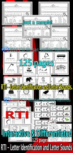 RTI - Letter Identification and Letter Sounds. This product Kindergarten Classroom Management, Kindergarten Reading, Differentiated Kindergarten, Kindergarten Centers, School Counseling, Literacy Activities, Teaching Resources, Letter Activities, Interactive Activities