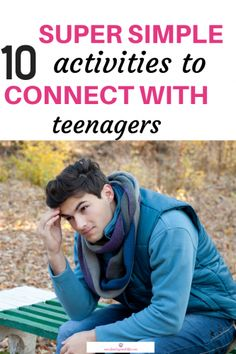 Wondering how to connect with teenagers during the terrible teen years? Find 10 dead easy ways to instantly recharge your bonds with your moody teenager. Raising Teenagers, Parenting Teenagers, Kids And Parenting, Parenting Hacks, Parenting Classes, Parenting Styles, Foster Parenting, Bonding Activities, Activities For Teens