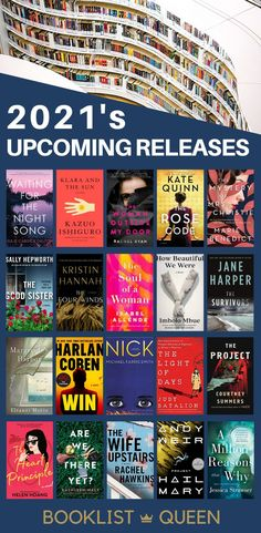 Upcoming Book Releases 2021. Take a look ahead at all the upcoming releases. Find out what the most-anticipated upcoming book releases are in the coming months. The list continually updates, so you'll always have a great list of books to read in 2021.
