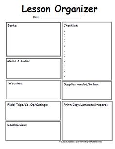 25 Best Lesson Planning Images On Pinterest Lesson Plan Format
