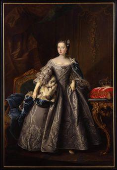 Prinses Anna van Hannover, door Johann Valentin Tischbein 1751, Fries Museum Leeuwarden.