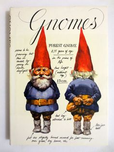Gnomes (1976) by Wil Huygen with illustrations by Rien Poortvliet - Vintage Illustrated Book - Mythical Creatures