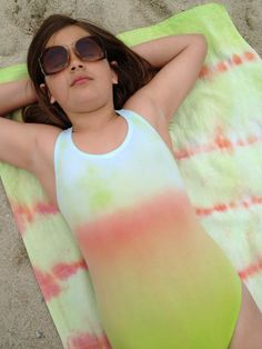 Use fabric dye to ombre a one-piece. | 25 Awesome Swimsuit DIYs You Have To Try This Summer
