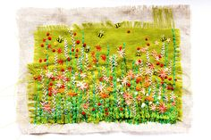 by Sarah Dodd of Lotus Blossom, handstitched & machine embroidered textiles