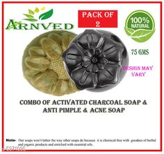 Soap Dispensers Arnved Activated Charcoal & Anti Acne Soap  Pack: Pack of 2 Country of Origin: India Sizes Available: Free Size   Catalog Rating: ★3.8 (352)  Catalog Name: Arnved Proffesional Soaps Combo Vol 3 CatalogID_903925 C132-SC1588 Code: 022-5971095-213