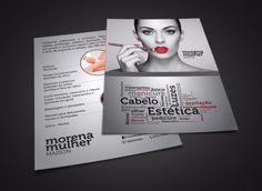 Cliente Morena Mulher. Mockup panfleto.