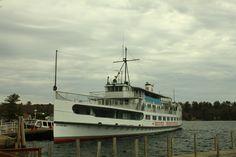 The Mount Washington docked at Center Harbor NH. April 18, 2013
