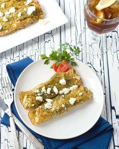 "Gluten Free Grain Free Chicken Enchiladas Verde - with a clever grain free ""corn tortilla"" recipe!"