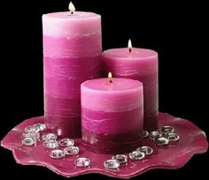 Should You Case Love Spells with Red or White Candles? Romantic Candles, Pink Candles, Beautiful Candles, Candle Lanterns, Pillar Candles, Candle In The Wind, Photo Candles, Candle Magic, Everything Pink