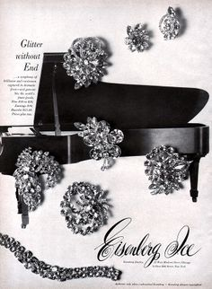 1960 Eisenberg Ice #rhinestone #costume #jewelry #vintage ad