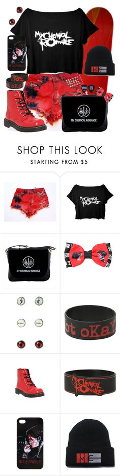"""""""My Chemical Romance black and red"""" by neverland-is-just-a-dream-away ❤ liked on Polyvore featuring Hot Topic and T.U.K."""