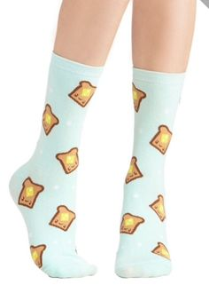 Cute toast socks